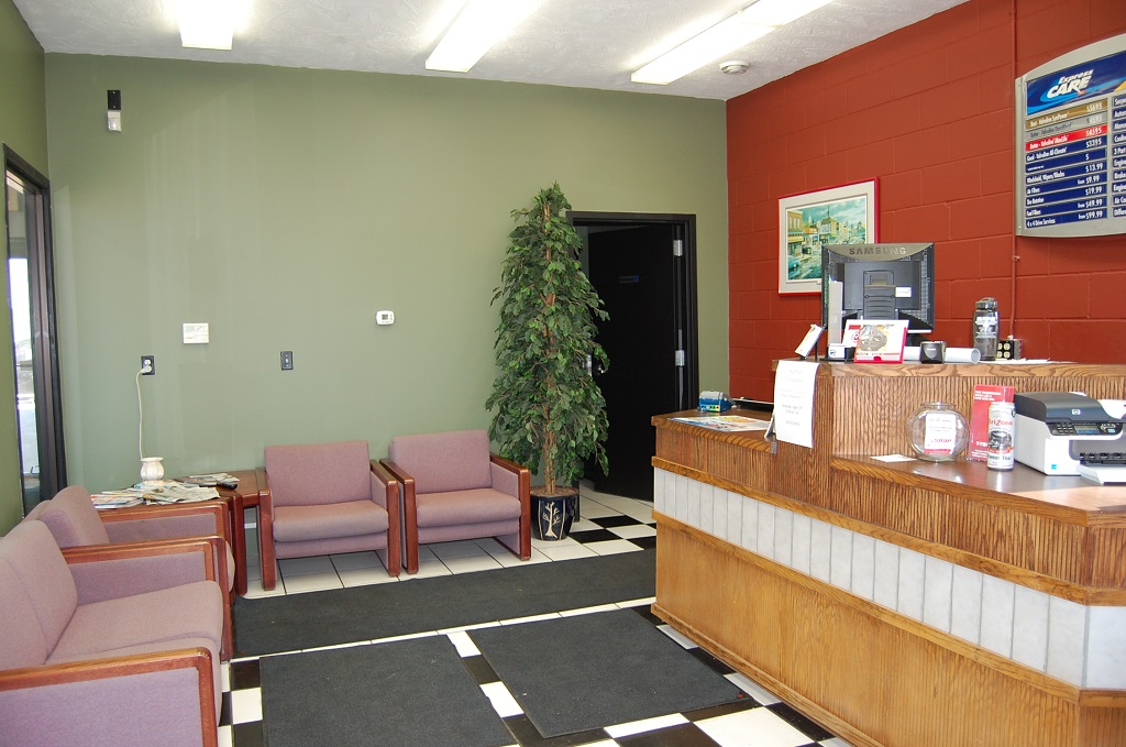 Front Desk and Lounge Area